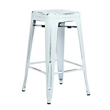 "Bristow Distressed Metal Barstool - 26""H, CH51336"
