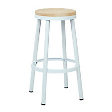 "Bristow Metal Barstool with Wood Seat - 30""H, CH51340"