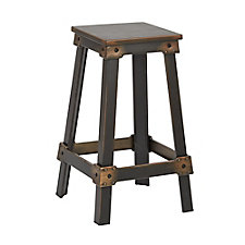 "New Castle Distressed Metal Barstool - 26""H, CH51344"