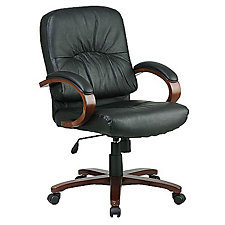 Work Smart Leather Desk Chair, CH02637