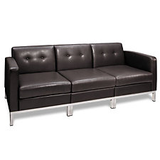 Wall Street Faux Leather Sofa, CH03523