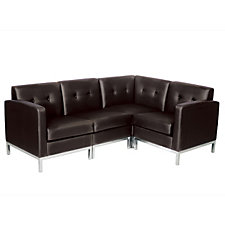 Wall Street Faux Leather L-Shaped Sofa, CH04318