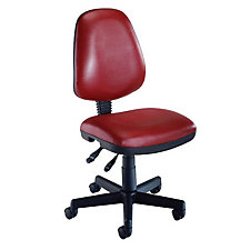 Armless Vinyl Computer Chair, CH00451