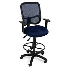 Mesh Back Drafting Stool with Arms, CH03542