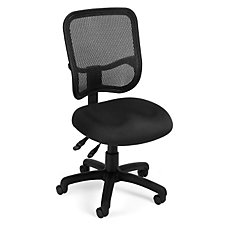 130 Series Mesh and Fabric Armless Ergonomic Chair, CH03540
