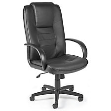 Black Leather High Back Chair, CH00477