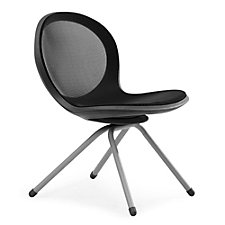 Net Series Armless Chair with Four-Leg Base, CH04862