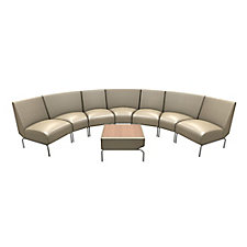 Triumph Curved Lounge Chairs in Faux Leather, CH51431