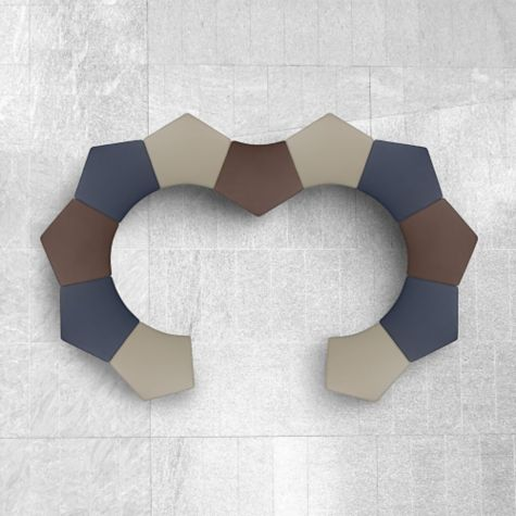 Outstanding Quin Modular Pentagonal Stool 30W Ncnpc Chair Design For Home Ncnpcorg