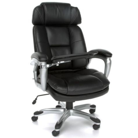 Oro Bonded Leather Tablet Chair W Headrest Officechairs Com
