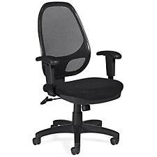 Atwater Mesh Back Mesh Fabric Seat Task Chair with Adjustable Arms, CH51107