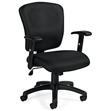 Astor Fabric Computer Chair with Adjustable Arms, CH51128