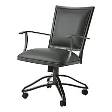 Homestead Faux Leather Metal Task Chair , CH51426