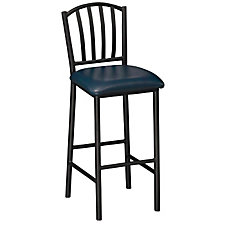 Slot-Back Vinyl Break Room Stool, CH04340