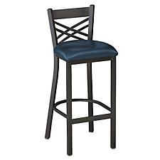 Cross-Back Vinyl Break Room Stool, CH04342