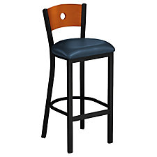 Circle-Back Vinyl Break Room Stool, CH04344