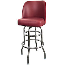 Bucket Backed Vinyl Barstool with Black Frame, CH51024