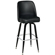 Bucket Backed Four Leg Vinyl Barstool , CH51025
