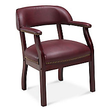 McKinley Leather Wing Back Guest Chair, CH52386