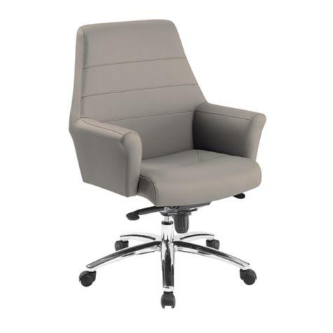 Superb Faux Leather Mid Back Chair Spiritservingveterans Wood Chair Design Ideas Spiritservingveteransorg