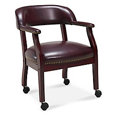 McKinley Faux Leather Captain's Chair with Casters, CH52383