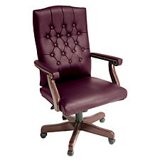 Ivy League Traditional Tufted Vinyl Executive Chair, CH04282