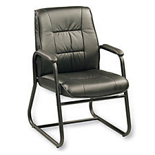 Black Leather Side Chair, CH00582