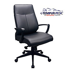 Comfort Seating Bonded Leather Tempur-Pedic® High Back Chair, CH51796