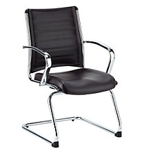 Europa Chrome Aluminum Base Leather Guest Chair, CH50934
