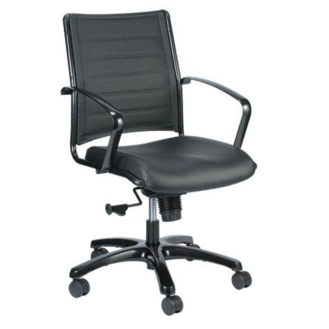 Surprising Europa Leather Mid Back Chair Spiritservingveterans Wood Chair Design Ideas Spiritservingveteransorg