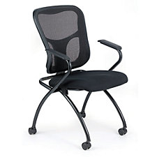 Flip Mesh Back Fabric Seat Nesting Chair, CH50941
