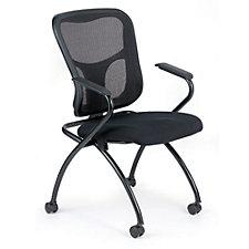 Flip Mesh Back Fabric Seat Nesting Chair, CH50941