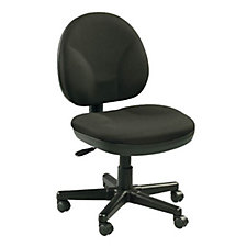 Armless Fabric Upholstered Computer Chair, CH02424