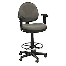 Fabric Drafting Stool with Arms, CH03841