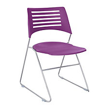 Pique Sled Base Stack Chair, CH50729