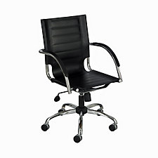 Flaunt Modern Leather Desk Chair, CH04657