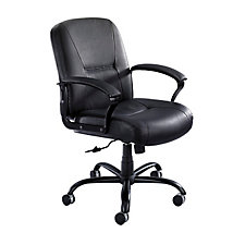 Serenity Mid Back Leather Big and Tall Chair, CH04921