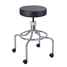 Lab Stool with High Base and Foot Rest, CH50073