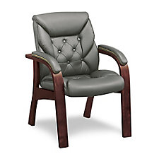 Traditional Faux Leather Guest Chair, CH50386