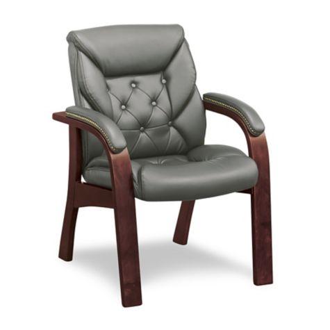Sensational Traditional Faux Leather Guest Chair Machost Co Dining Chair Design Ideas Machostcouk