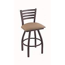 """Jackie Faux Leather or Wood Big & Tall Stool w/Back - 25""""H Swivel Seat, CH51990"""