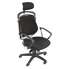 Posture Perfect Fabric High Back Ergonomic Chair with Headrest, CH03818