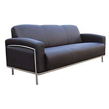 Black Vinyl Reception Sofa, CH03719