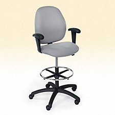 Mid-Back Drafting Stool with Arms, CH02081