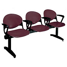 Polypropylene Three Seat Bench with Arms, CH03091