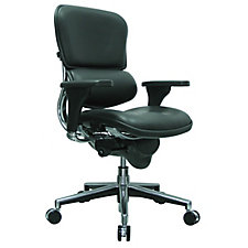 Ergohuman Leather Mid Back Chair, CH50928