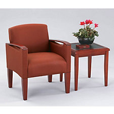 Fabric Guest Chair with End Table, CH04140