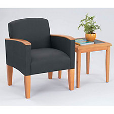 Fabric Guest Chair with End Table, CH04151