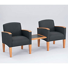Two Guest Chairs with Center Connecting Table, CH04153