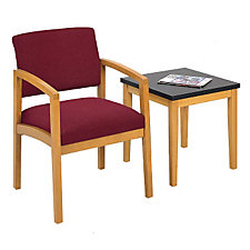 Lenox Guest Chair in Fabric with End Table, CH52322